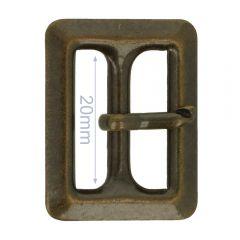 Schnalle Metall 20mm - 6Stk