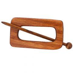 Tuchbrosche Holz 100mm dunkel - 5Stk