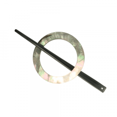 Tuchbrosche Perlmutt 50-65mm - 10Stk