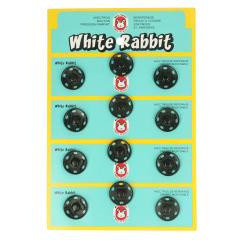 Druckknopf Mantel White Rabbit 18mm schwarz - 6Stk