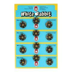 """Druckknöpfe """"White Rabbit"""" 18mm - 6 Stück"""