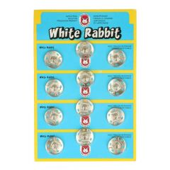 Annäh-Druckknöpfe White Rabbit 21mm - 6x12Stk - NI
