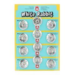 Annäh-Druckknöpfe White Rabbit 25mm - 6x12Stk - NI