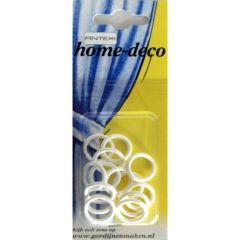 Antex Ringe Plastik 13x18mm weiß - 5x15Stk
