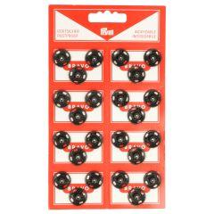 Prym Druckknöpfe 15mm schwarz - 6 Stück