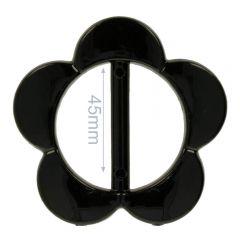 Zierschnalle Blume 30mm - 8Stk