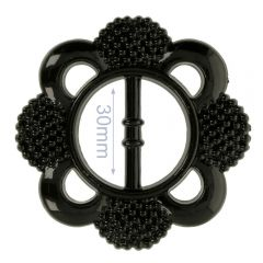 Zierschnalle Blume 30mm - 6Stk