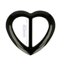 Zierschnalle Kunststoff Herz 40mm - 6Stk