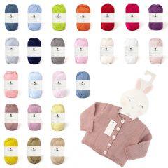 DMC Baby Baumwolle Sortiment 10x50g - 24 Farben - 1Stk