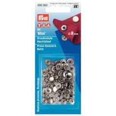 Prym Nähfrei Nachfüllpackung für 390630 silber 8mm - 5 Stück