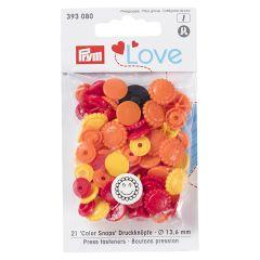 Prym Love Druckknöpfe Blume 13.6mm - 3x21Stk