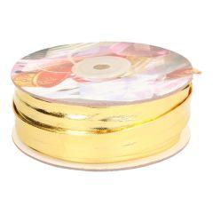 Schrägband Lurex 16mm - schmal - gold/silber - 15m