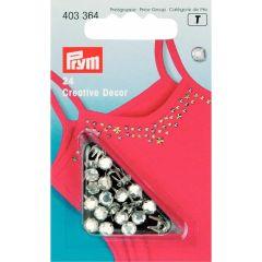 Prym Creatief Decor Ziernieten mit Strass 5-7mm - 5 Stück T