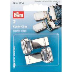 Prym Combi-Clips 18-30mm silberfarbig - 5 Stück S