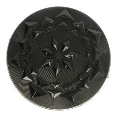 Knopf Facettenknopf schwarz - Größe 24 - 50 Stück