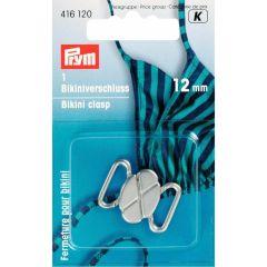 Prym Bikini/Gürtelverschluss MET Kleeblatt 12mm silb/gold -5Stk K