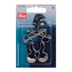 Prym Latzhosenschnallen MS 35mm silberfarbig - 5 Stück