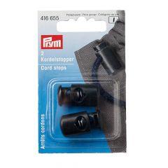 Prym Kordelstopper 1-Loch schwarz - 5Stk