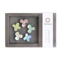 Cohana Reißzwecke Blume aus Austern Schale - 1x5Stk