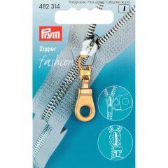 Prym Fashion-Zipper Öse goldfarbig - 5 Stück K