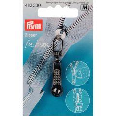 Prym Fashion-Zipper Kugel stahlfarbig - 5 Stück M