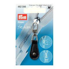 Prym Fashion Zipper Lederimitat schwarz Tropfen - 5Stk
