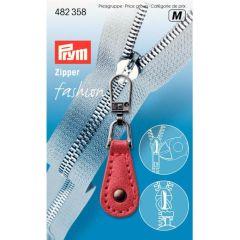 Prym Fashion-Zipper Lederimitat rot - 5 Stück M