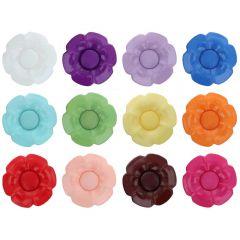 Knopf Blume austaus. Herz Größe 40 - 25.00mm - 11x40Stk
