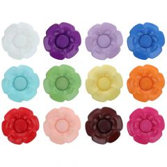 Knopf Blume austaus. Herz Größe 60 - 37.50mm - 12x25Stk