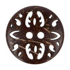 """Knopf Kokos ausgeschnittenes Muster  32""""-54"""" - 30-50 Stück"""