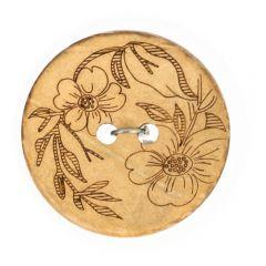 "Knopf Kokos gelasert Blume 32""-70"" - 50 Stück"