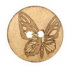 "Knopf Kokos gelasert Schmetterling 32""-70"" - 50 Stück"