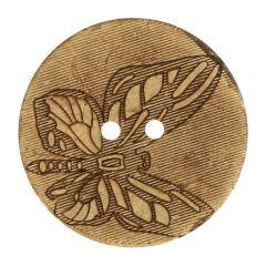 "Knopf Kokos gelasert Schmetterling 32""-70"" - 30-50 Stück"