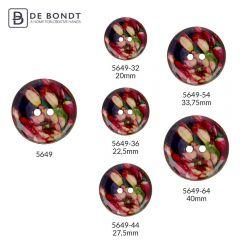 """Knopf Kokos Tulpe Blume 32""""-64"""" - 30-50 Stück"""