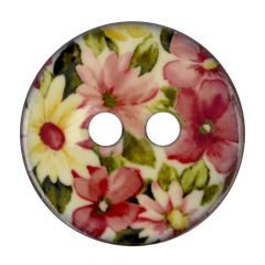 "Knopf Kokos Blume rosa-weiß 32""-64"" - 30-50 Stück"