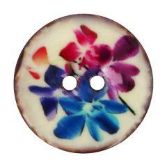 """Knopf Kokos Blume lila-blau 32""""-64"""" - 30-50 Stück"""
