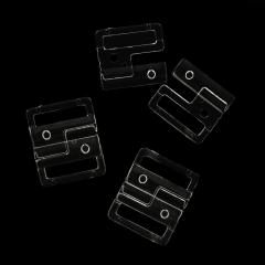Bikini Verschluss 20mm - 25 Stück - transparent