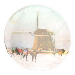 Knopf Perlmutt Mühle Winterlandschaft Größe 32-54 - 30-50 Stück