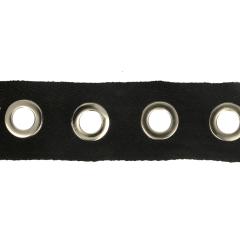 Gewebtes Ösenband 35mm schwarz - 10m