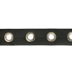 Ösenband 25mm Kunstleder schwarz - 10m