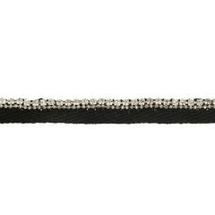 Paspelband Strasssteinchen Kristall-Qualität 10mm schw - 10m