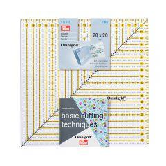 Prym Omnigrid Patchwork-Lineal Viereck 20x20cm - 3Stk
