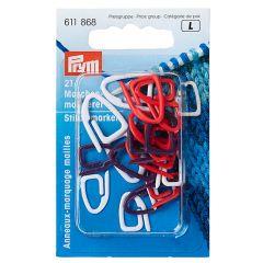 Prym Maschenmarkierer Kunststoff Sortiment - 5x21Stk