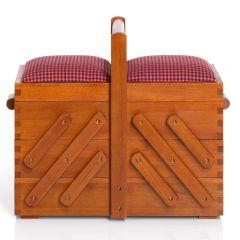Prym Nähkasten Holz mit Stoff 36x19x30cm dunkel - 1Stk