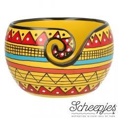 Scheepjes Garnschale Mangoh. 11x12,5cm Yellow Stripe - 1Stk