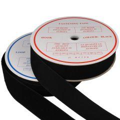 Klettband Aufnähen 50mm Haken- + Flauschband - 25m