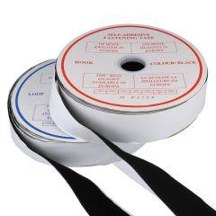 Klettband selbstklebend Haken und Flausch 50mm - 20m
