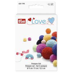 Prym Love Pompon-Set 3,3-5-9cm mint - 3Stk