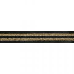 Elastik gestreift 38mm schwarz-gold - 10m