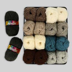 Scheepjes Socky Pulli Sortiment 2x50g - 9 Farben - 1Stk